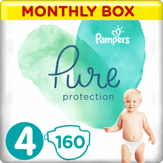 Pampers Pure Protection Pelenka, 4-es méret, 160 db, 9-14 kg