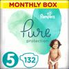 Pampers Pure Protection Plenky, Velikost 5, 132 ks, 11-16 kg