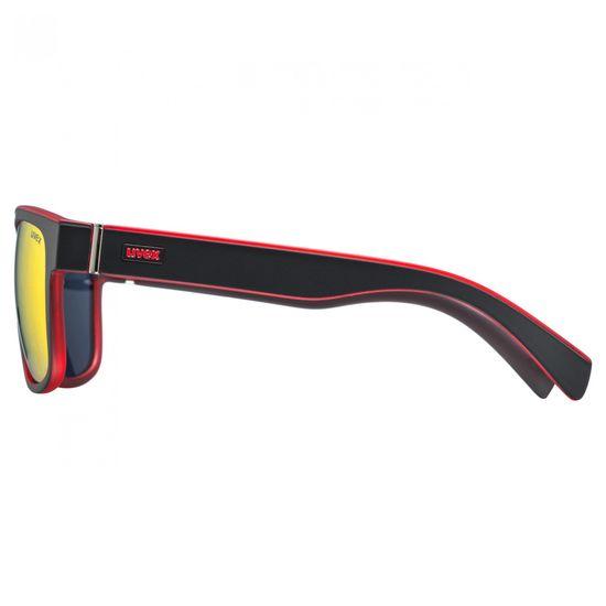 Uvex LGL 21 sončna očala, mat črno-rdeča - Odprta embalaža