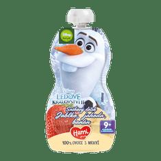 Hami Disney Frozen Olaf ovocno-zeleninové vrecúško Jablko, Jahoda, Banán 6x 110 g, 9+ EXPIRÁCIA 09/2021