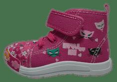 V+J dievčenské členkové plátené tenisky 130-0065-S1 19 ružové