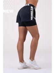 Nebbia Fast&Furious Double Layer šortky 527 čierna L
