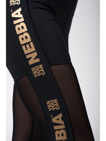 Nebbia Gold Mesh Legíny 829 čierna S