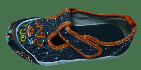 V+J chlapčenské plátené sandále 131-0055-U1