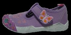 V+J 131-0055-U1_2 lány vászon szandál, 25, lila