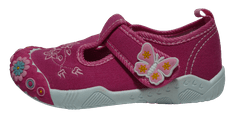 V+J dievčenské plátené sandále 131-0055-U1_3 25 ružové
