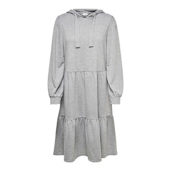 Jacqueline de Yong Dámské šaty JDYDALE 15226752 Light grey melange