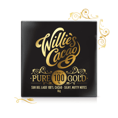 Willies Cacao 100% hořká čokoláda Pure Gold Sur de Lago, Venezuela, 40g