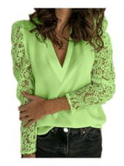 Moja Izložba Bluza čipkasta, svetlo zelena, 42 Short