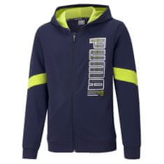 Puma Active Sports Full-ZipHoodie jakna za dječake, tamno plava, 104