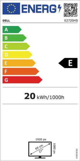 """DELL E2720HS IPS LED monitor, 68,58 cm (27,0"""") (152090)"""
