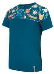 Sensor Koszulka chłopięca Coolmax Impress 130 niebieska