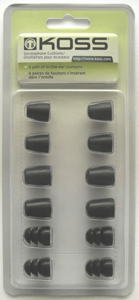 KOSS PLUGCUSH náhradní molitany pro sluchátka (6 párů)