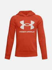 Under Armour Mikina RIVAL FLEECE HOODIE-ORG S