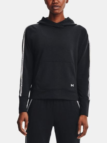 Under Armour Pulover Rival Terry Taped Hoodie-BLK