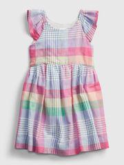 Gap Otroške Obleka sl plaid empir 5YRS