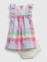 Gap Dojenčki Obleka fam plaid drs 3-6M