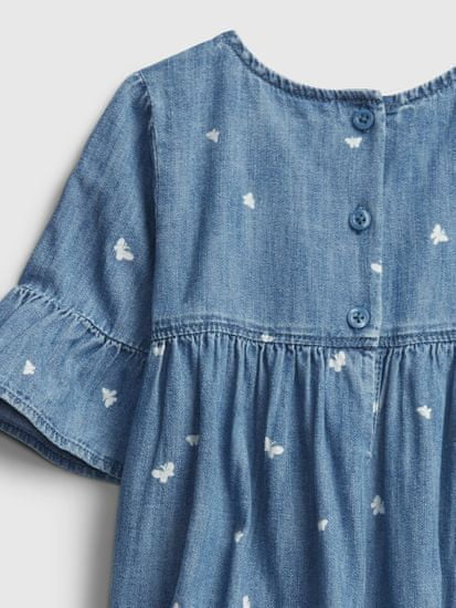 Gap Dojenčki Obleka drs dnm prnt fltr slv