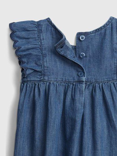 Gap Dojenčki Obleka drs - dnm scallop