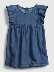Gap Dojenčki Obleka drs - dnm scallop 3-6M