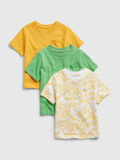 Gap Otroške Majica ptf organic ss, 3 ks