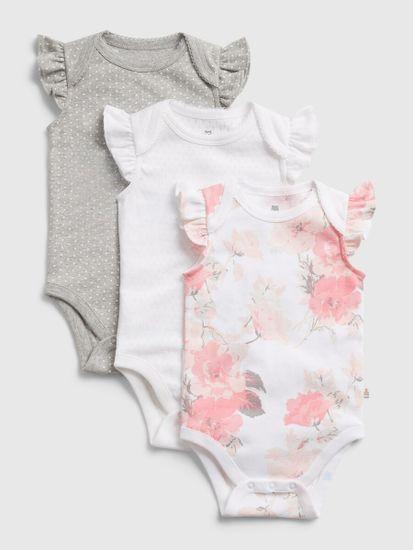 Gap Dojenčki Bodi floral bs, 3ks