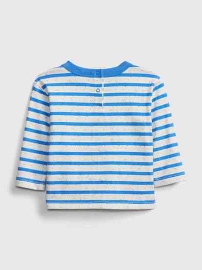 Gap Dojenčki Majica nep stripe ls