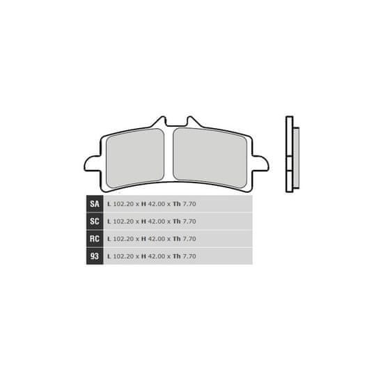 Brembo Přední brzdové destičky Brembo Honda 1000 RCV213V 2015 - směs SC