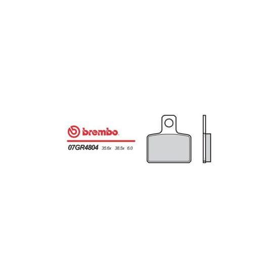 Brembo Zadní brzdové destičky Brembo Sherco 250 2.5 2001 - směs 04