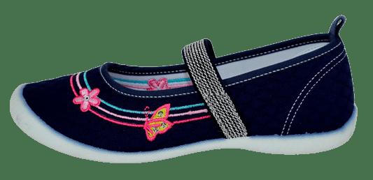 Slobby dievčenské plátené sandále 131-0060-T1