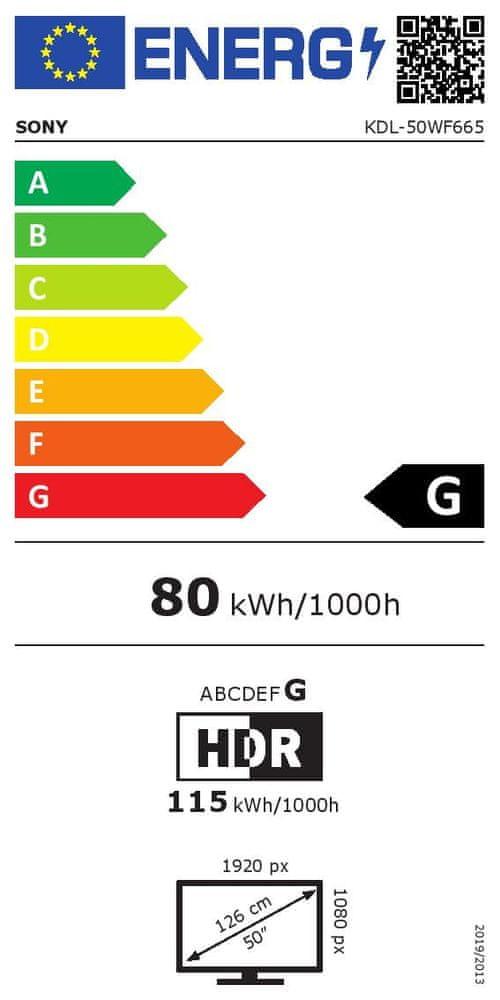 Sony KDL-50WF665