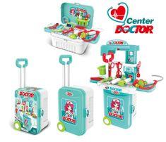 4Kids otroški igralni set za zdravnika v kovčku s kolesi