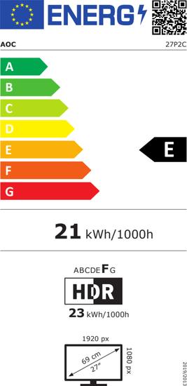 AOC 27P2C monitor 68,6 cm (27), FHD, IPS