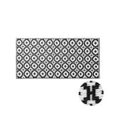 Butlers Vnitřní a venkovní běhoun mozaika 140 x 70 cm - černá/bílá