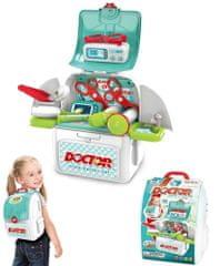 4Kids nahrbtnik z dodatki za zdravnika, otroški igralni set
