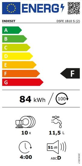 Indesit myčka DSFE 1B10 S + 5 let záruka na vypouštěcí čerpadlo motoru