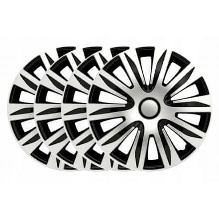 Sena Nardo 14 poklopci naplataka, srebrno-crne, 4 komada