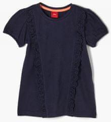 s.Oliver dievčenské tričko 403.10.103.12.130.2060378 92/98 tmavomodrá
