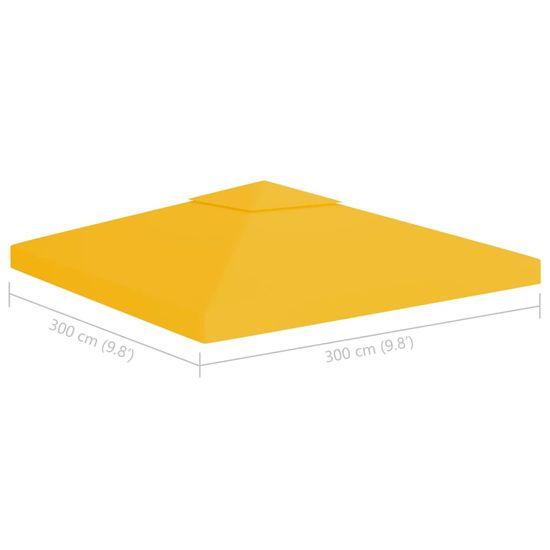 shumee sárga kétszintes pavilon-tetőponyva 310 g/m² 3 x 3 m