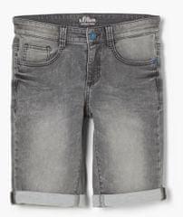 s.Oliver chlapčenské džínsové kraťasy 402.10.103.26.180.2100956 140 sivá