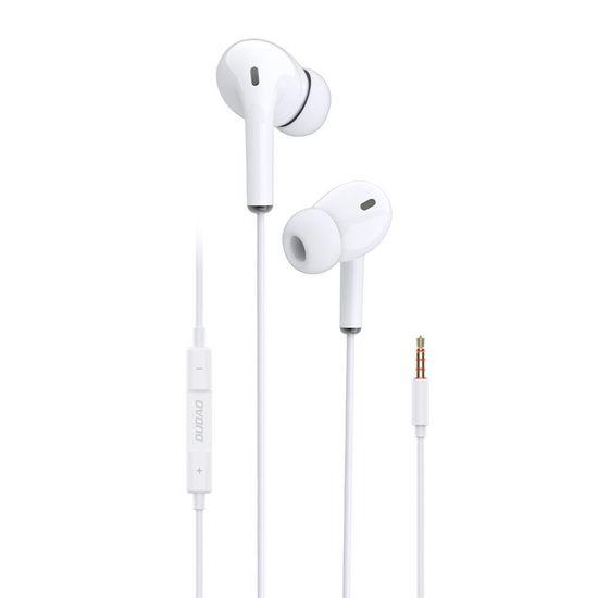 DUDAO X14 sztereó fülhallgható 3.5mm mini jack, fehér