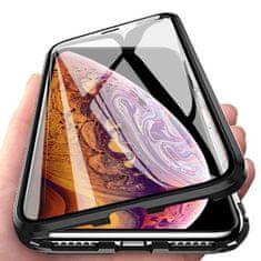 MG Magnetic Full Body Glass magnetno ovitek za iPhone 12 / 12 Pro, črna