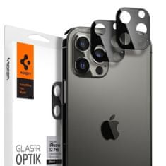 Spigen Optik.Tr 2x zaščitno steklo za kamero za iPhone 12 Pro, črna