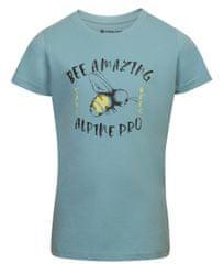 ALPINE PRO Ekoso otroška majica, modra, 92–98
