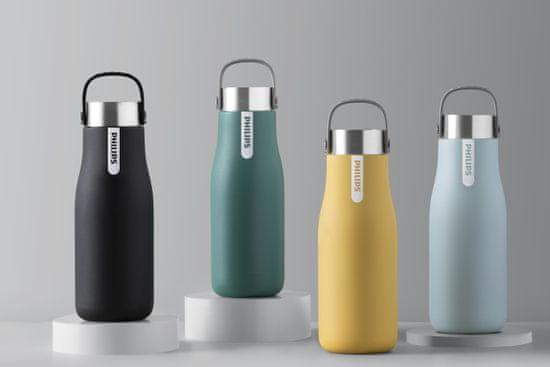 Philips GoZero UV samočistiaca fľaša, 590 ml, čierna