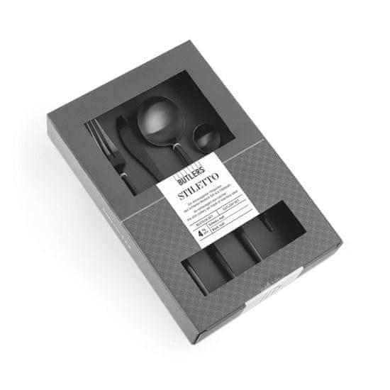 Butlers Příbory matné set 4 ks - černá