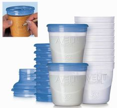 Avent VIA zásobníky na materské mlieko, 10 kusov