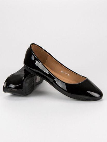 Lakované černé baleríny