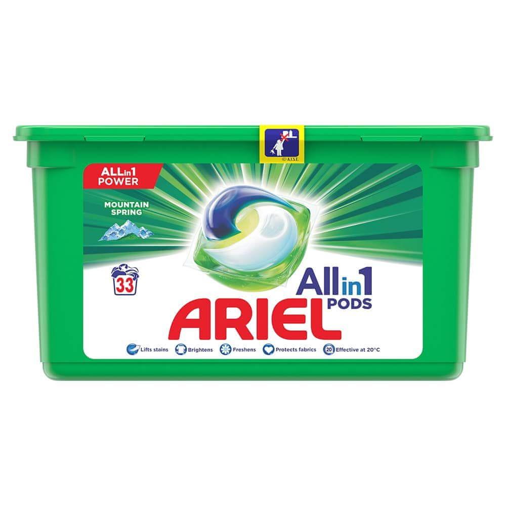 Ariel Mountain Spring Kapsle Na Praní Prádla All In 1 33 Praní