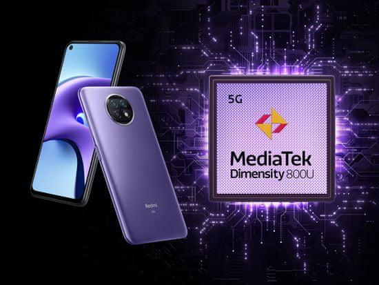 Xiaomi Redmi NOTE 9T 5G pametni telefon, 4GB/128GB, FHD+, 5000mAh, vijoličen
